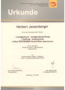 Elektrotechnik-Anlagenbuchung-Nullung-Norm-Waidhofen an der Ybbs