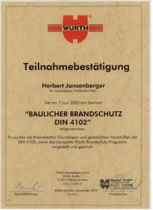 Elektriker -Jansenberger-Waidhofen-Zertifikat-Brandschutz